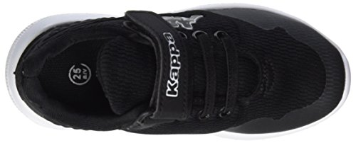 Kappa New York, Zapatillas Unisex Niños Negro (Black/white)