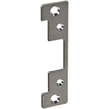 HES Stainless Steel 501A Faceplate for 5000 Series Electric Strikes for Aluminum Frames Includes Universal Mounting Tabs, Satin Stainless Steel Finish