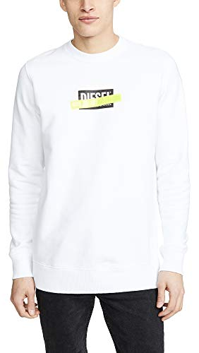 - Diesel Men's S-Gir-Die Sweatshirt, White, Small