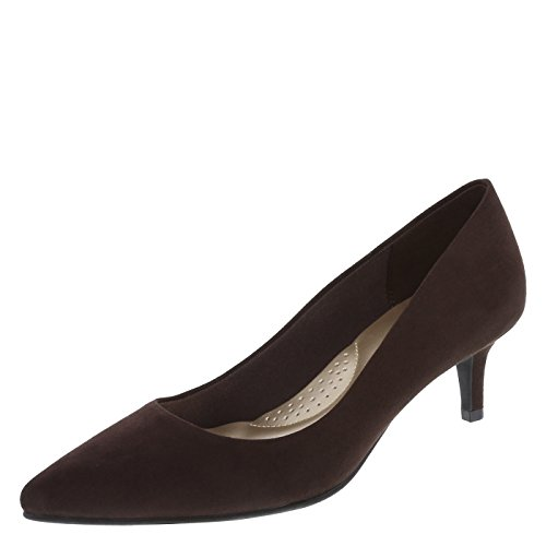 n's Brown Suede Women's Jeanne Pointed-Toe Pump 8 Regular (Brown Womens Pumps)