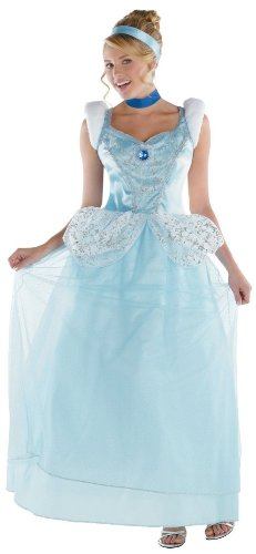 Disney Princesses Costumes Adults (Disguise Disney Cinderella Adult Deluxe Costume, Light Blue/White, Medium/8-10)