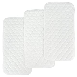BlueSnail Bamboo Quilted Thicker Waterproof Changing Pad Liners, 3 Count (White)