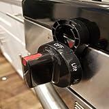 Stove Stoppaz Universal Kitchen Stove Knob Locks (5 Count) (Black)