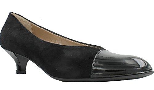 Beautifeel Hildie Black Suede / Charol Pump, Size 39 Eu