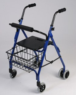 Rollator Walker - This lightweight aluminum walker has a ...