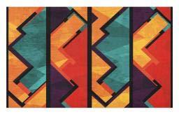 Border Big Bold (Ambesonne Modern Doormat, Geometric Modern Art Ethnic Design with Black Bold Zig Zag Borders Pattern, Decorative Polyester Floor Mat with Non-Skid Backing, 30 W X 18 L Inches, Teal Orange Marigold)