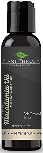 Plant Therapy Macadamia Nut Carrier Oil. 2 oz. A base for Aromatherapy, Essential oils, or Massage Use. (Pack of 12) (Aroma Therapy Oil Gallon)