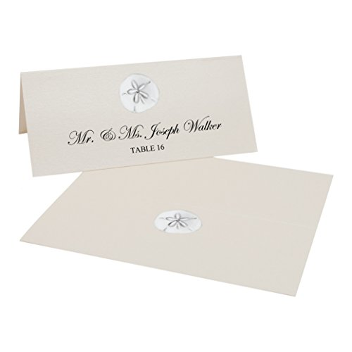 Sand Dollar Easy Print Place Cards, Champagne, Set of 400 (100 Sheets) by Documents and Designs