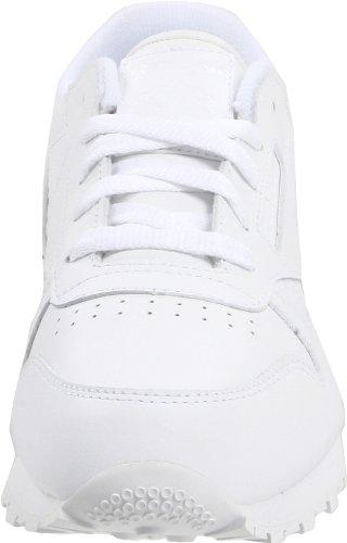 Reebok Classic Leather Shoe (Little Kid) White/White/White