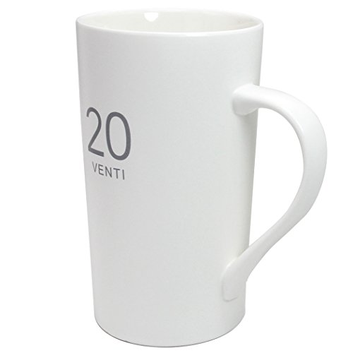 20 Ounces Simple Large Milk Mug, Momugs Tall White Ceramic Coffee Cup - The Best Gift for Your Father, Husband, And Friends (Mug Ceramic Jumbo)