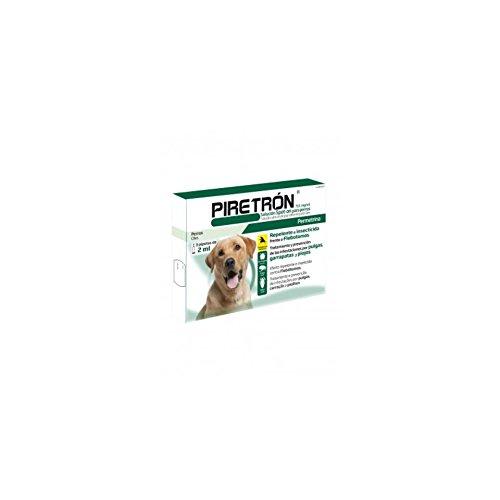 3 Pipetas PIRETRON 2 ml (perros+15 Kg) pipeta permetrina pulgas, flebotomos, garrapatas QUIMUNSA
