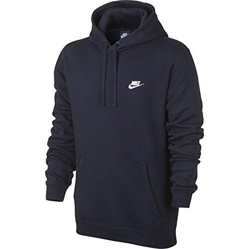 Nike Men's Club Fleece Pullover Hoodie (Navy, Small)