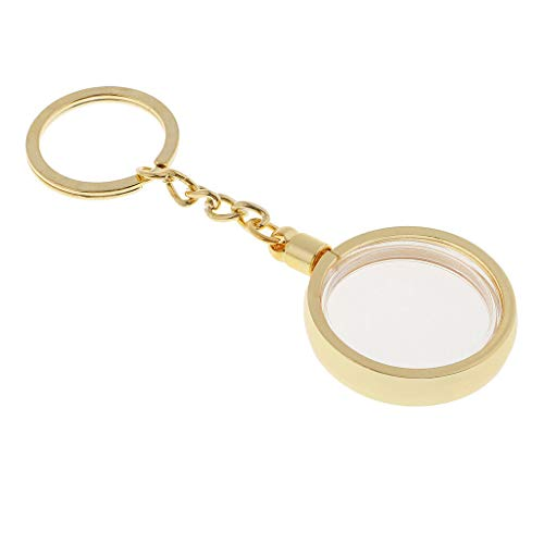 (NATFUR Coin Holder Key Ring Keychain 30mm Souvenir Commemorative Coin Collectable Elegant Novelty for Women Perfect for Gift Novelty Great Fine Lovely)