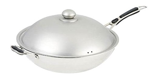 Adcraft Countertop Tri Ply Stainless Steel Induction Wok, 120 Volts -- 1 each. by Adcraft