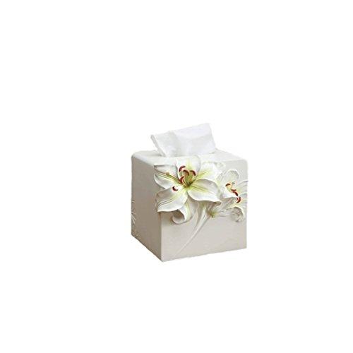 Lily Tissue Box - LXY Fashion Simple Lily Resin Towel Tube Pumping Box tissue box