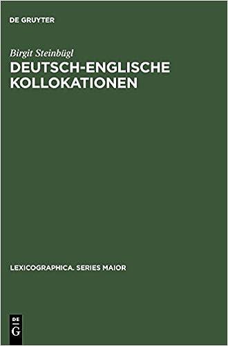 Deutsch Englische Kollokationen Erfassung In Zweisprachigen