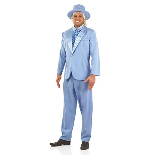 fun shack Mens 90s Movie Blue Suit, Large ()