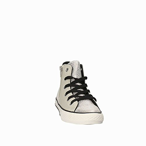 All Converse GRIGIO Leather Zip Side Hi Star ARGENTO 655161c ZwHqROvw