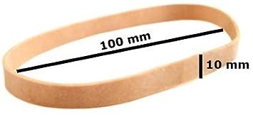 10 x Aros Gomas Elasticas Super Resistente para Paquetes Grandes Papel Sobres