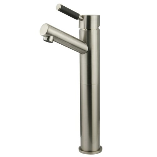 delicate Kingston Brass FS8418DKL Kaiser Single Handle Vessel Sink Faucet without Pop-up and Plate, Satin Nickel