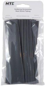 nte-electronics-47-20906-bk-heat-shrink-tubing-thin-wall-21-shrink-ratio-3-4-diameter-6-length-black