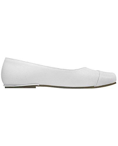 Subibaja Lulu Ballet Flats - Slip On Shoes for Girls, Baby/Toddler/Little Kid/Teen (12-12.5 M Little Kid, (White Patent Shoes)