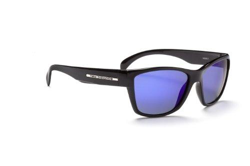 New Balance Sun NB 509-3 Sunglasses, Gloss Black, Polarized Brown with Blue - Sunglasses New Men's Balance