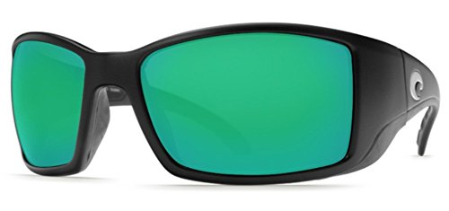 Costa Del Mar Blackfin Sunglasses, Black, Green Mirror 580Glass Lens from Costa Del Mar