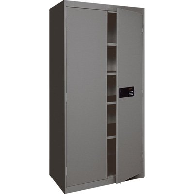 Sandusky Lee EA4E462472-02 Storage Cabinet with Keyless Electronic Lock Handle Elite with Adjustable Shelves, 46