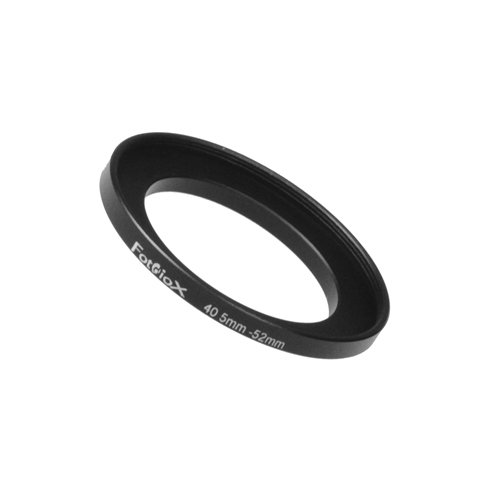 Fotodiox Metal Step Up Ring Filter Adapter, Anodized Black Aluminum 40.5mm-52mm, 40.5-52 mm