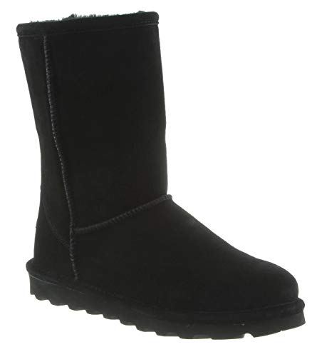 BEARPAW Women's ELLE Short Fashion Boot, Black ii, 6 M US