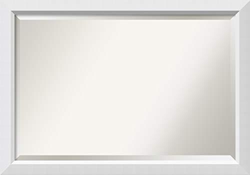 Amanti Art Framed Vanity Mirror | Bathroom Mirrors for Wall | Blanco -