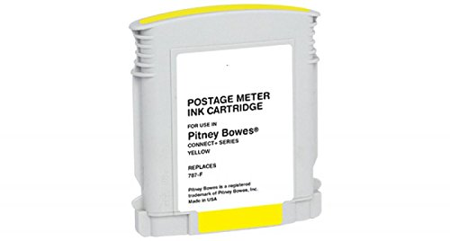 AIM Compatible Replacement - Pitney Bowes Compatible Connect+ 1000/2000/3000 Yellow Postage Meter Inkjet (787-F) - Generic by AIM