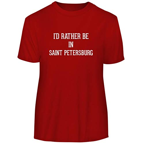 - I'd Rather Be in Saint Petersburg - Men's Funny Soft Adult Tee T-Shirt, Red, XX-Large