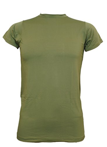 US Marine Tactical T-Shirt OD Green Lycra Genuine Issue 8415-01-549-7552