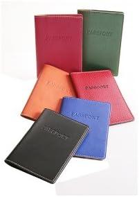 Vintage Collection Black Italian Leather Passport Case Travel Passport Cover