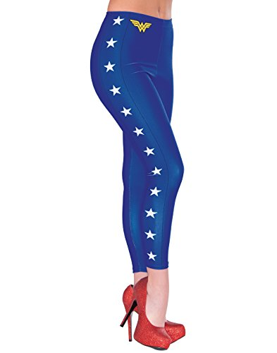[Rubie's Women's Dc Comics Wonder Woman Leggings, Multi, One Size] (Halloween Costumes For The Family)