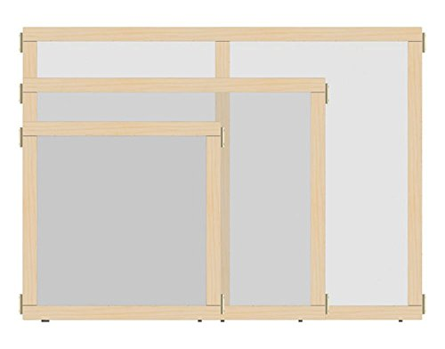 Offex School kids Study Playroom T-height See-Thru Hub Panel, 48'' Wide (OF-1514JCTPL) by Offex (Image #1)