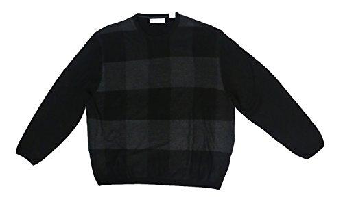 (Ryan Seacrest Distinction Felted Buffalo-Plaid Crew-Neck Sweater (XX-Large))