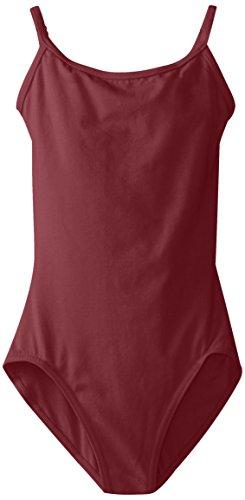 Capezio Big Girls' Classics Camisole Leotard with Adjustable Straps, Burgundy, Large