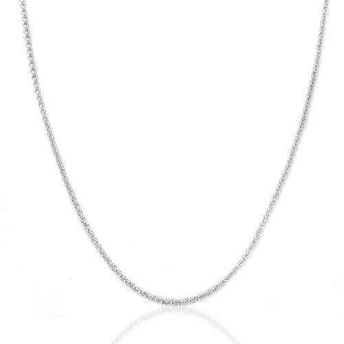 Stainless Steel 2mm Box Chain Necklace (Gold Plated) - 3