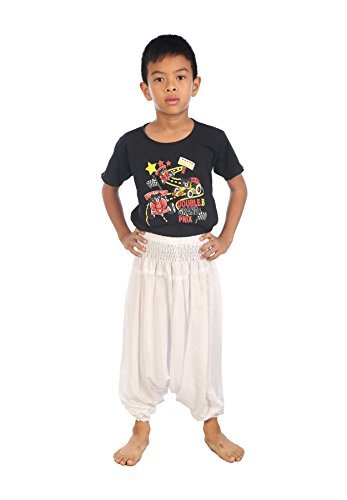 Lofbaz Baby Infant Harem Plain Color Child Aladdin Pants Boho Hippy White Size - Colors Hippy
