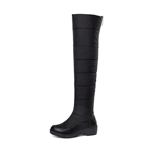 Women's Knee High Riding Boots Thick Platform Round Toe Waterproof Warm Cotton Lady Concise Winter Female Fashion Boots