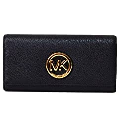 Michael Kors Fulton Flap Continental Leather Wallet