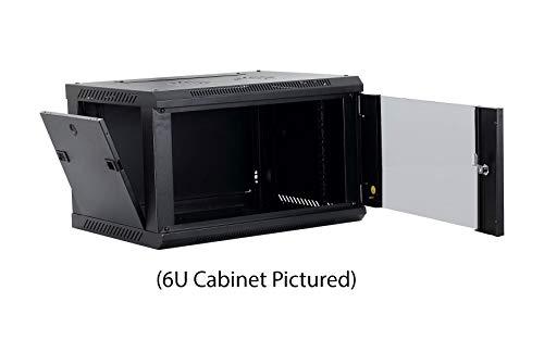 Kenuco 9U Wall Mount Rack Server Cabinet Data Network Enclosure 19-Inch Server Network Rack with Locking Glass Door Black by KENUCO (Image #3)