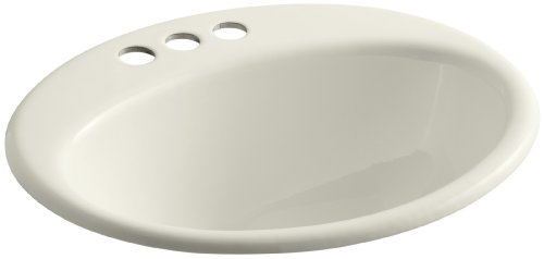 KOHLER K-2905-4-96 Farmington Self-Rimming Bathroom Sink, - Bathroom 4' Center Sink