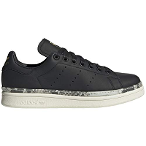 adidas Womens Stan Smith New Bold Leather Core Black White Trainers 7 US