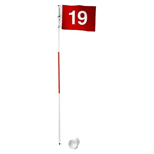 Tour Gear Portable Golf Flag with Cup