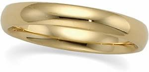 Size 9.5 03.00 mm Light Comfort-Fit Wedding Band Ring in 10K Yellow Gold