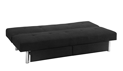 Dhp Sola Convertible Sofa Futon With Space Saving Storage